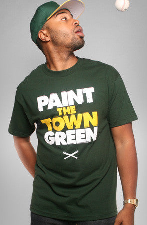 Paint the Town Green (Men's Green Tee)