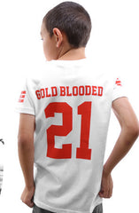 Gold Blooded Legends :: 21 (Youth Unisex White Tee)