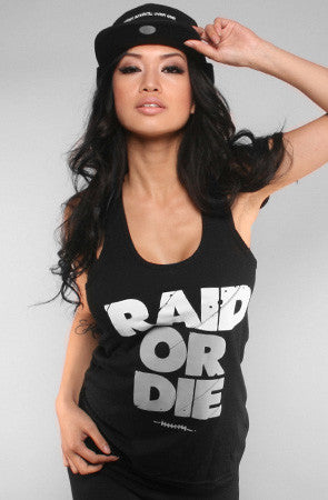Raid or Die (Women's Black Tank Top)