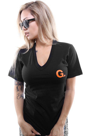G (Women's Black V-Neck)