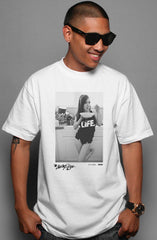 Ashley Vee x Adapt :: Good Morning (Men's White Tee)