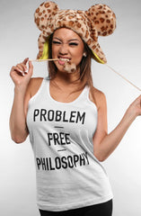 Problem Free (Women's White Tank Top)