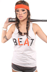 Beat LA (Women's White/Orange Tank Top)