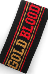 GOLD BLOODED (Black Thermal Headband)
