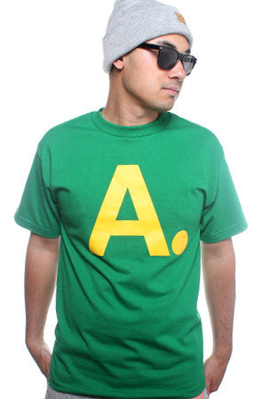 A-Frame (Men's Kelly/Gold Tee)