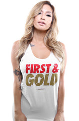 First and Gold (Women's White Tank Top)