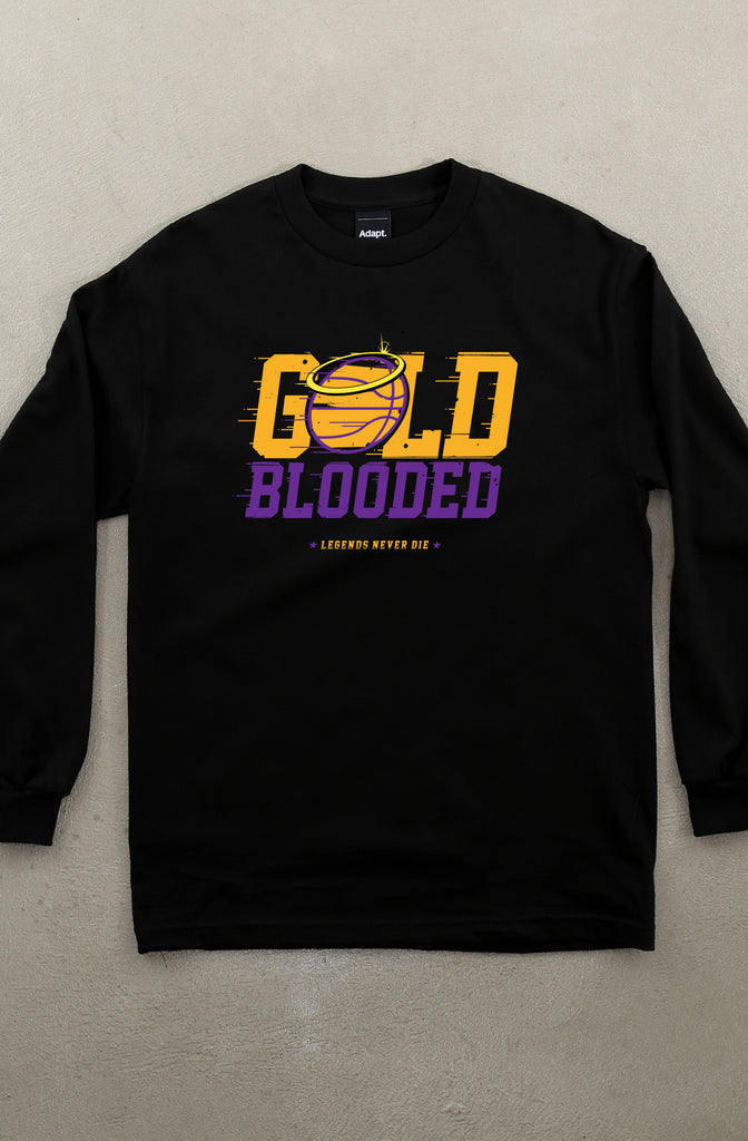 Gold Blooded Halo (Men's Black Long Sleeve Tee)