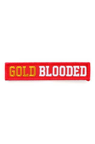"Gold Blooded (Red Velcro Patch 1"" x 5"")"
