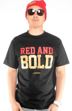 Red and Bold (Men's Black Tee)