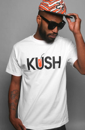 Kush x OJ (Men's White Tee)
