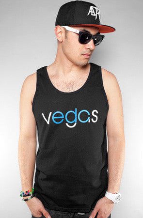 Vegas (Men's Black/Blue Tank)