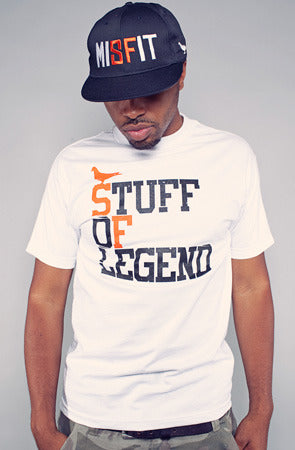Stuff of Legend (Men's White/Orange Tee)