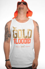 GOLD BLOODED World Champs Men's White/Orange Tank