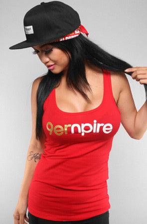 Empire (Women's Red/Gold Tank Top)