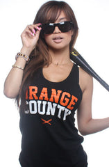 Orange County (Women's Black Tank Top)