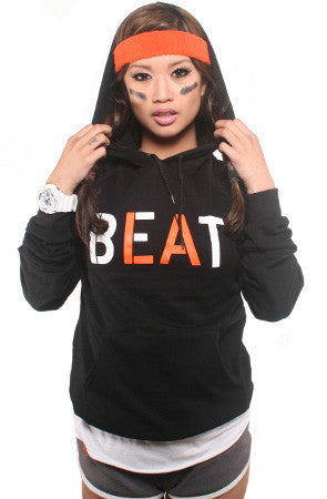 Beat LA (Women's Black/Orange Hoody)