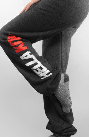 Ashley Vee x Adapt :: Hella Kitty (Women's Dark Charcoal/Red Sweats)