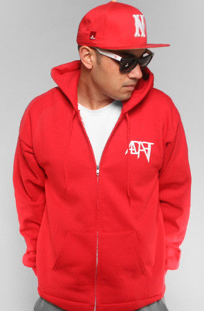 GOLD BLOODED Men's Red/Gold Zip Hoody