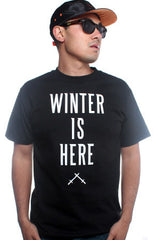 Winter Is Here (Men's Black Tee)