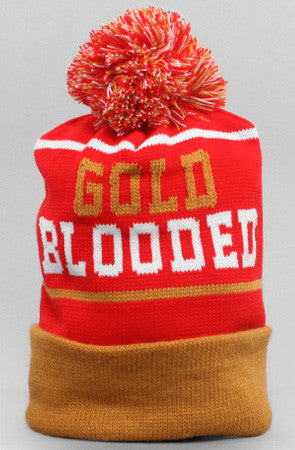 Gold Blooded (Red Beanie)