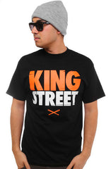 King Street (Men's Black Tee)