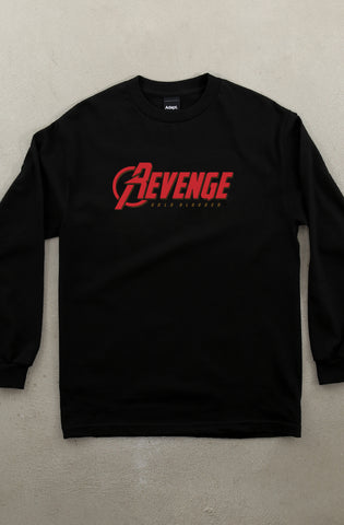 Revenge (Men's Black Long Sleeve Tee)