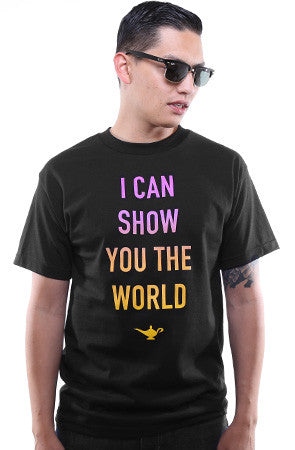 I Can Show You The World (Men's Black Tee)