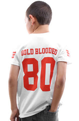 Gold Blooded Legends :: 80 (Youth Unisex White Tee)