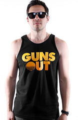 Guns Out (Men's Black Tank)