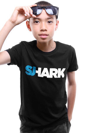 Breezy Excursion x Adapt :: Shark (Youth Unisex Black Tee)
