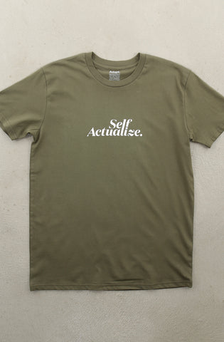 Self Actualize (Men's Army A1 Tee)