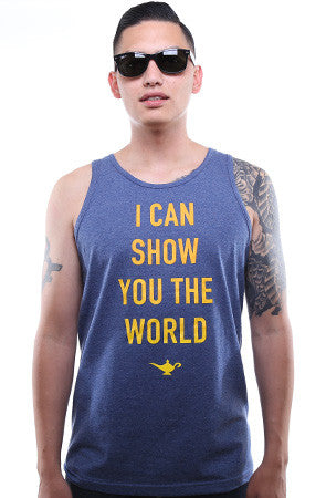I Can Show You The World (Men's Denim Heather Tank)