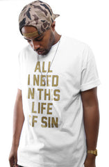 Breezy Excursion X Adapt :: All I Need GOLD Edition (Clyde) (Men's White Tee)