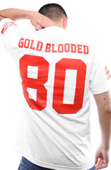 Gold Blooded Legends :: 80 (Men's White Tee)