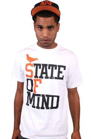 State of Mind (Men's White/Orange Tee)