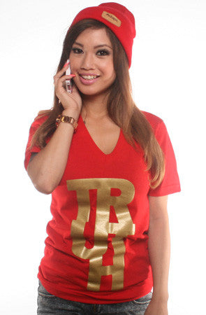 TRUE x Adapt :: Truth (Women's Red V-Neck)