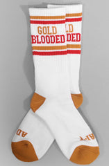Gold Blooded (White/Red Socks)