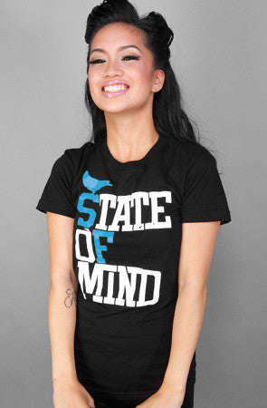 State of Mind (Women's Black/Teal Tee)