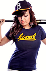 Local II (Women's Navy/Gold Tee)