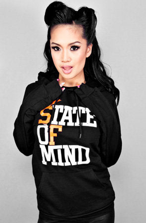 State of Mind (Women's Black/Orange Hoody)