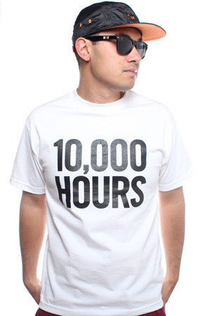 10,000 Hours (Men's White Tee)