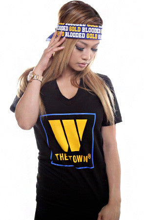 The Town (Women's Black V-Neck)