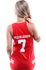 Gold Blooded Legends :: 7 (Women's Red Tank Top)