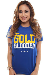 Gold Blooded (Women's Royal Tee)