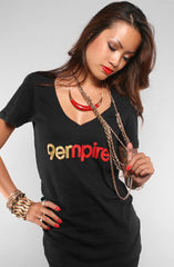 Empire (Women's Black V-Neck)