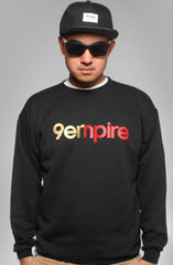 Empire (Men's Black Crewneck Sweatshirt)