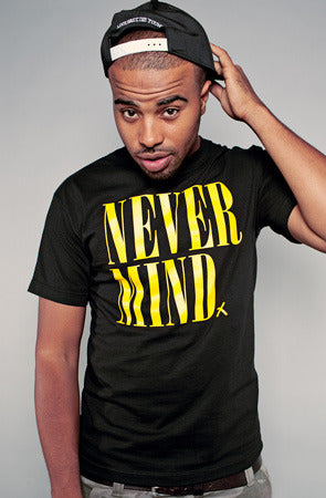Never Mind (Men's Black Tee)