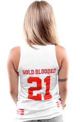 Gold Blooded Legends :: 21 (Women's White Tank Top)