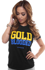 Gold Blooded (Women's Black/Royal Tee)