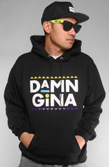 Damn Gina (Men's Black Hoody)